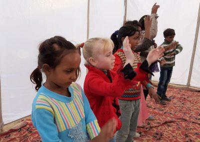 Schüler beim Schauspiel