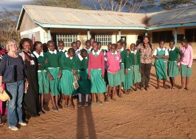 Gudrun Korthus von GinCo in Kenia vor Ort